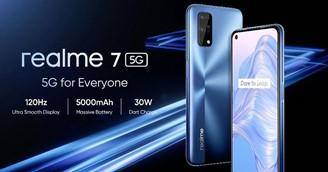 realme 7 5G tem suporte às 12 principais bandas de 5G do mundo.