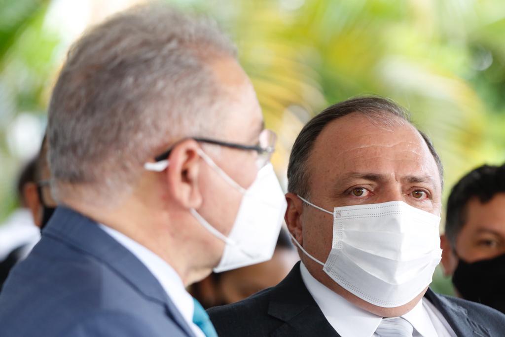 Marcelo Queiroga e o ministro da saúde Pazuello