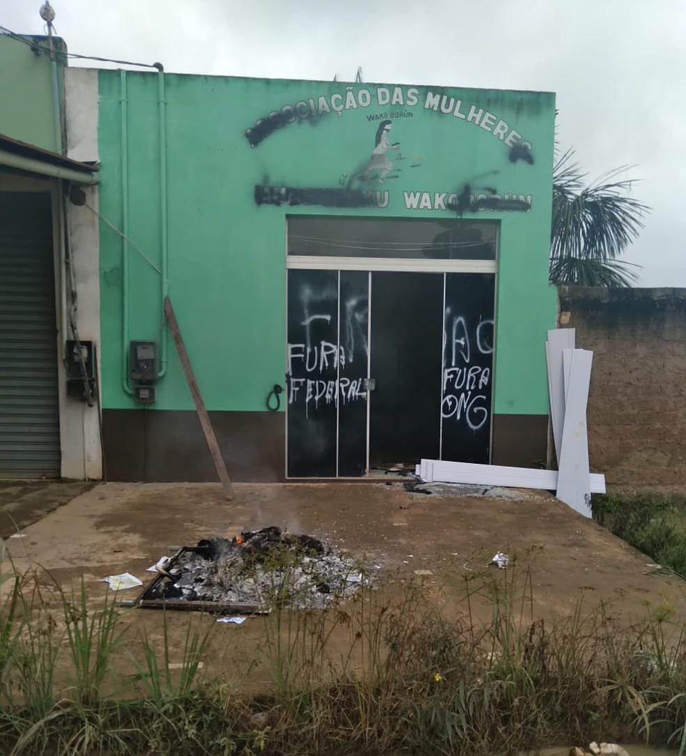 Escritório da Associação de mulheres indígenas é atacado em Jacareacanga, no PA — Foto: Divulgação