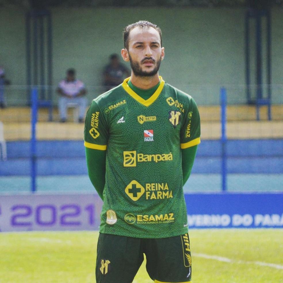 Axel Lopes, goleiro do Castanhal — Foto: Ascom Castanhal