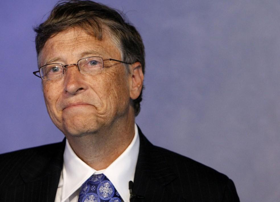 Bill Gates em imagem de arquivo no G20 — Foto: Remy de la Mauviniere/AP
