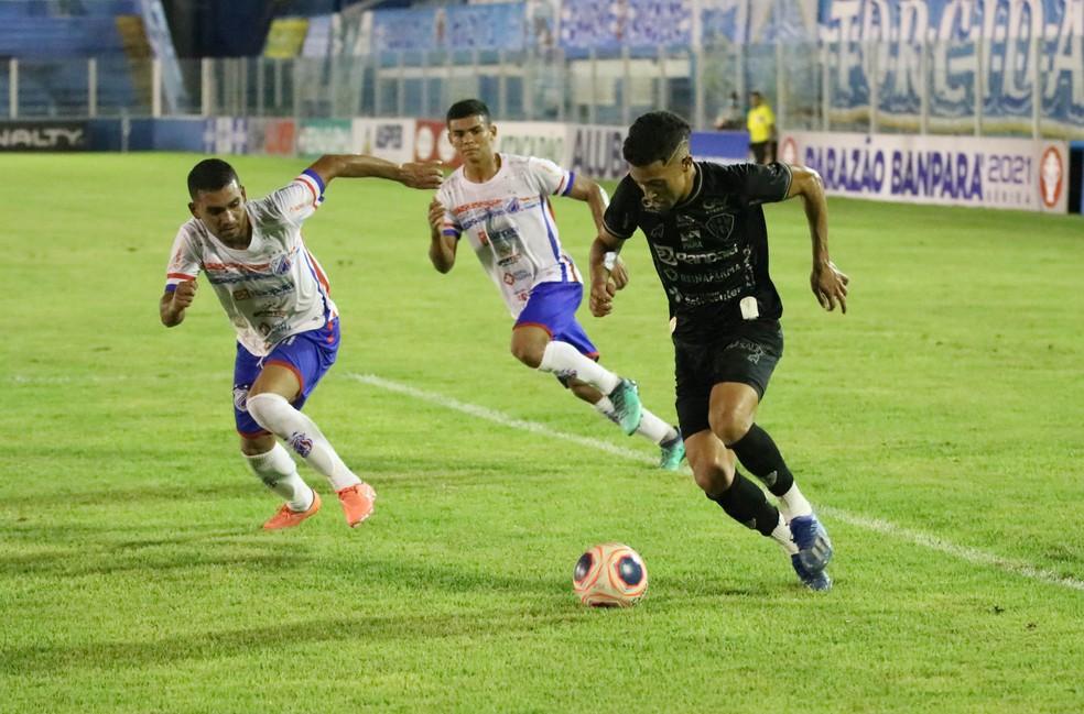 Marlon foi um dos destaques do Paysandu contra o Bragantino-PA — Foto: John Wesley/Ascom Paysandu