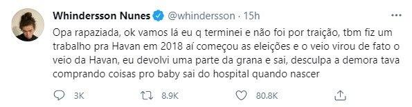 Whindersson Nunes fala sobre término com Luisa Sonza