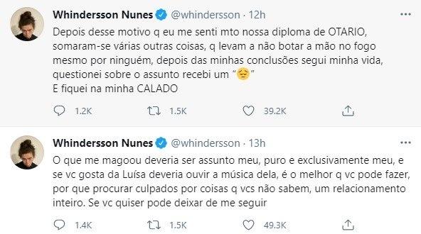 Whindersson Nunes volta a falar sobre o assunto