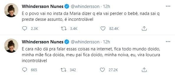 Whindersson Nunes diz que a namorada está sofrendo ameaças