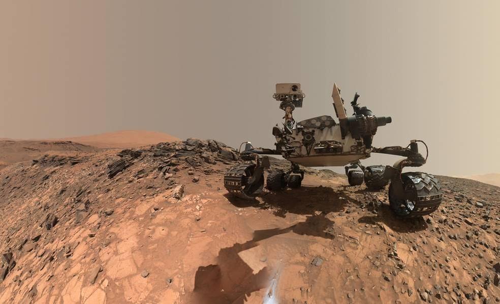 Rover Curiosity, da Nasa, está em missão desde novembro de 2011 no planeta vermelho — Foto: NASA/JPL-Caltech/MSSS