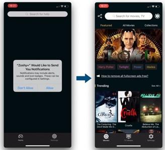 """A tela """"verdadeira"""", com vídeos pirateados por streaming."""