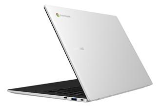 Galaxy Chromebook Go tem linhas finas e elegantes.