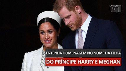 Entenda homenagem no nome da filha do Príncipe Harry e Meghan