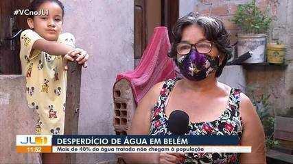 Estudo aponta que mais de 40% da água tratada não chega à população de Belém